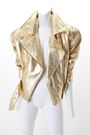Vakko - Gold leather jacket