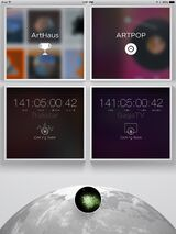 ARTPOP App Main Menu