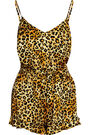 Agent Provocateur x Olympia Charlotte - Leopard-print silk-satin playsuit