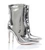 Mistress Rocks - ''Mercury'' silver boots