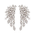 Jen Hansen - Large cluster oxidized sterling earrings