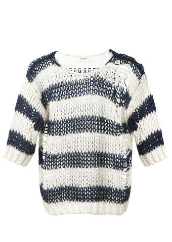 File:Saint Laurent - Striped wool and mohair openwork pullover.jpg