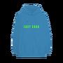 Enigma Merch Gaga logo blue hoodie front