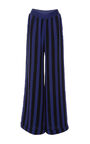 Alexis Mabille - Stripe striped high waisted trousers