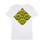 Fame Merch Caution T-shirt Back