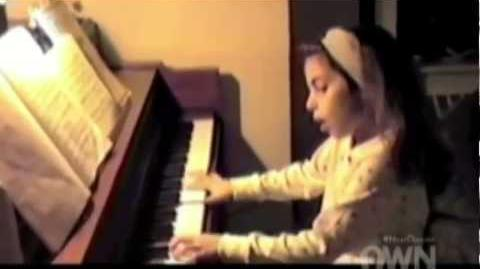 Lady Gaga Little Stefani Germanotta Playing the Piano