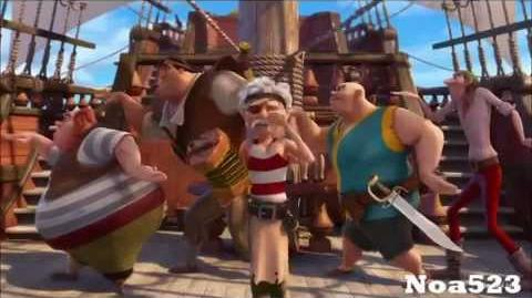 "Tinkerbell Pirate Fairy ""The Frigate that flies"" ''Pirate song'' movie clip (HD)"