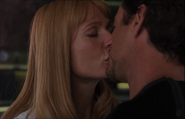 Avengers tony and pepper kiss