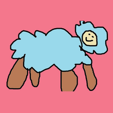 Mouton papa square