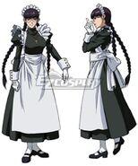 Black lagoon roberta maid cosplay costume