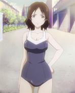 Machiko iwabuchi school swimsuit full body