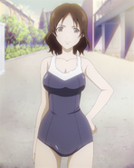 Machiko iwabuchi school swimsuit full body