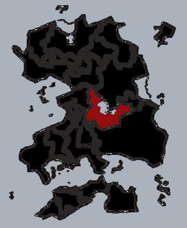 Влёшское государство на карте