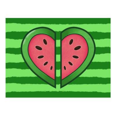 Kawaii watermelon heart postcard-recfaa761f1584d258612f36d83b526d3 vgbaq 8byvr 400