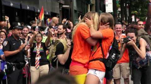 Marriage proposal at NY Gay Pride Parade 2015!