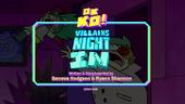 Villains Night In Titlecard