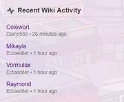 Recent wiki activity darryl555