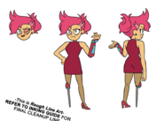 Red Action Prom Model Sheet