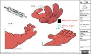Chameleon Sr Hand Tongue Model