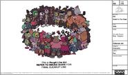 Circular Crowd Blob Model Sheet