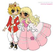 Lalaloopsy cinder slippers and prince handsome by tamagopurin-d9gh64m.png