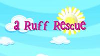 A Ruff Rescue title card