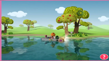 Lala 3D Land - Bea en lago