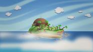 Isla del pico humeante