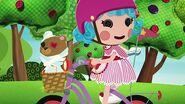 Rosy rides a bike