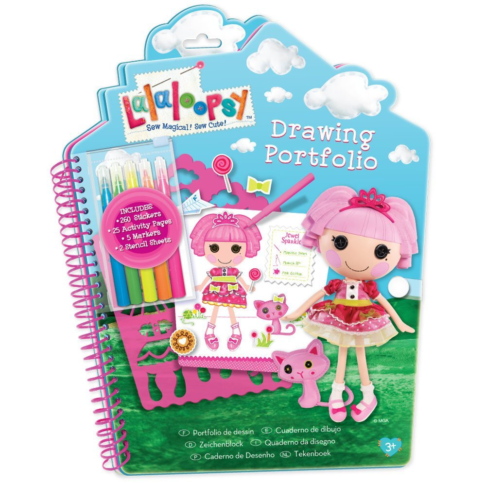 Lalaloopsy Jewel Sparkles Drawing Portfolio Book Includes 260 Stickers 40 Pages
