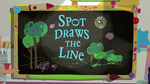 Spot Draws the Line title card