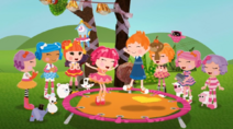 S1Ep13 Ace and Tippy Bouncing on Peanut's Trampoline