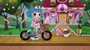 NS1E09B Rosy con bici y mascotas