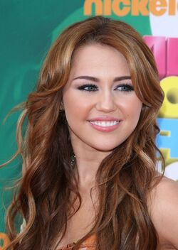 Miley cyrus long curly brown h