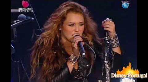 Miley Cyrus - Fly on The Wall Kicking and Screaming I Love Rock 'n' Roll - Rock in Rio Lisboa