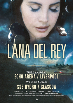 Lust For Life Promo Tour Liverpool Glasgow Poster