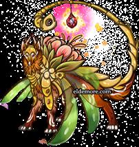 Fire Flower Glasswork Dragon