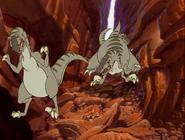 Deinonychus descend from the hills