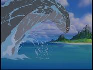 Mosasaur breaching