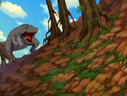 Cool Gray Sharptooth roaring and appears