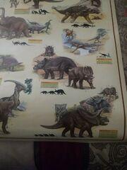 Pentaceratops dinosaur poster 1986