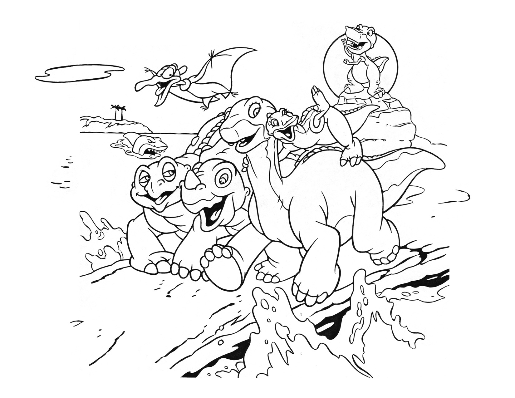 Image Coloring Page 2 movie 5png Land Before Time Wiki FANDOM