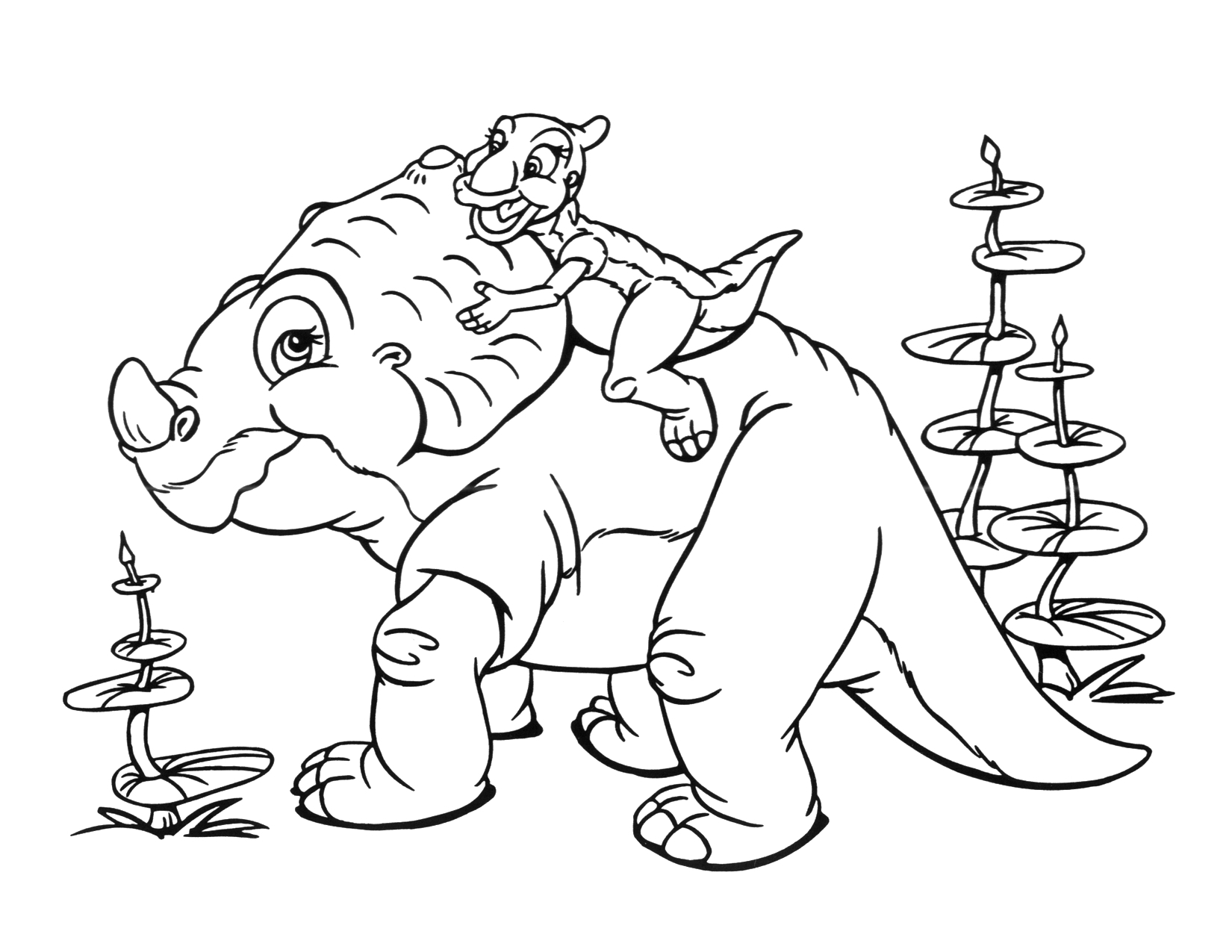Image - Coloring Page 2 movie 9.png | Land Before Time Wiki | FANDOM ...