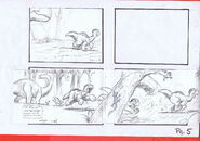 The Land Before Time 1988 Production Storyboard Copy Page 5 DON BLUTH -SH005