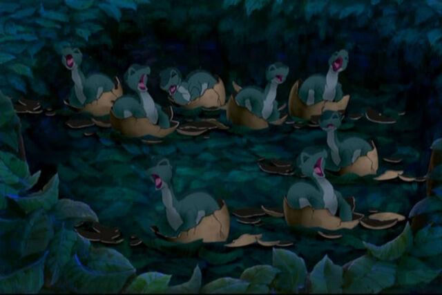 File:Diplodocus Hatchlings.jpg