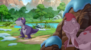 Chomper and Ruby in Journey of the Brave