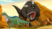 Carnotaur and ornithomimid