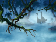 Littlefoot and Grandparents go to Gooey Icky Place