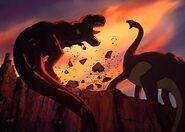 Sharptooth battle
