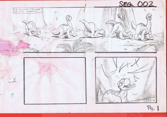 File:The Land Before Time 1988 Production Storyboard Copy Page 1 DON BLUTH -SH001.jpg